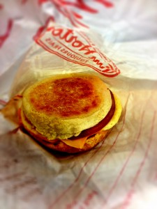Egg White Breakfast Sandwich from Timmies
